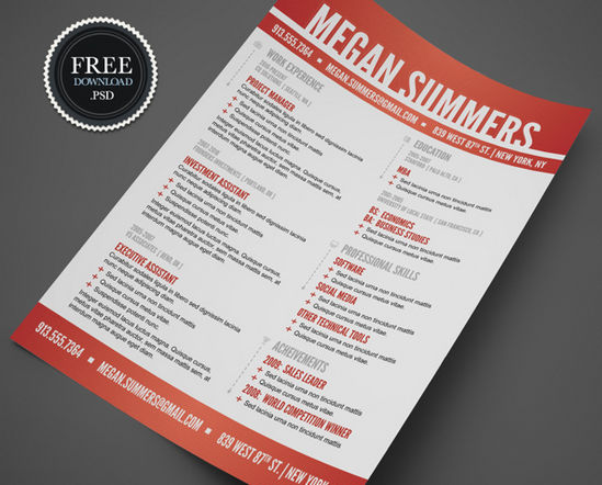 26 free resume templates to give you that career boost noupe - Resume Templates Indesign