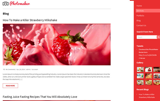 Photomaker WP theme
