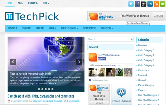 TechPick WP theme