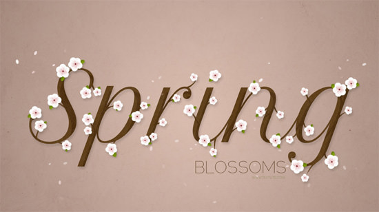 cherry-blossoms-text-effect