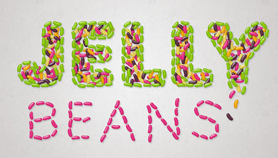 jelly-bean-text-effect