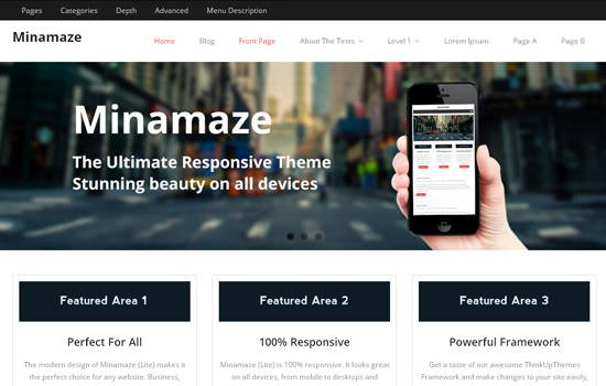 Minimaze WP theme