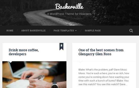 Baskerville WP theme