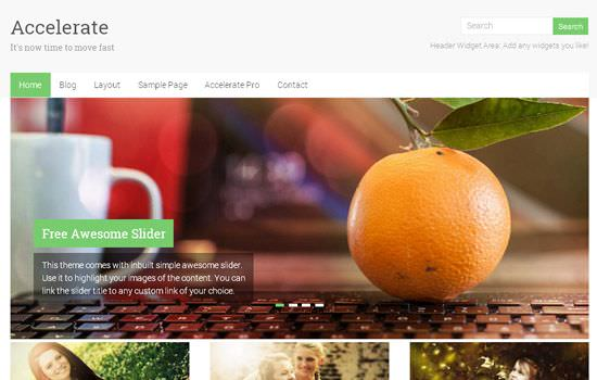 Accelerate WP theme