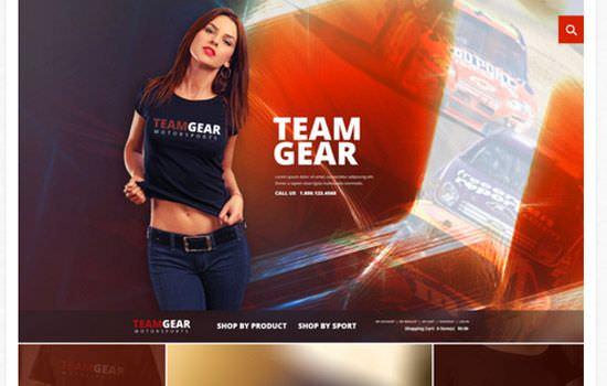Team Gear PSD template