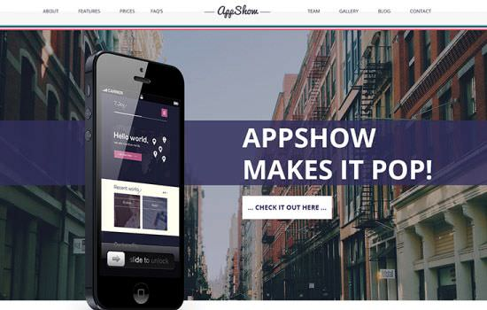 Appshow PSD template