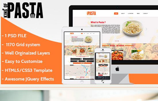 King of pasta HTML template