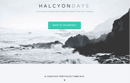 Halcyon Days HTML template
