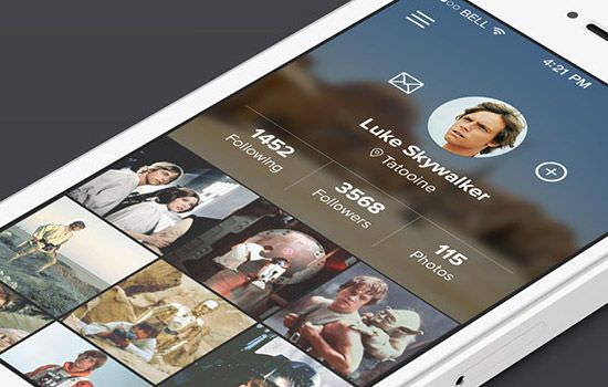 App profile PSD page