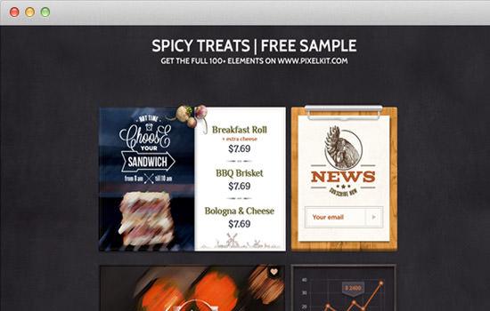 Spicy treats UI