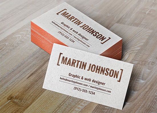 29 great free business card psd templates the ace up your sleeve letterpress business cards mockup reheart Gallery
