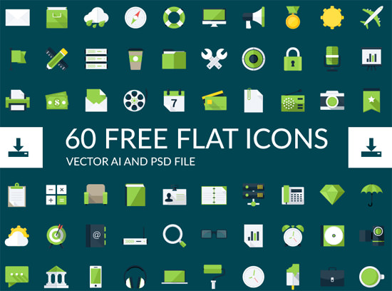 green-flat-icons