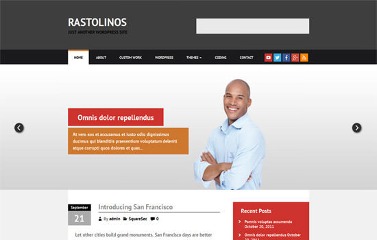 Rastolinos WP theme