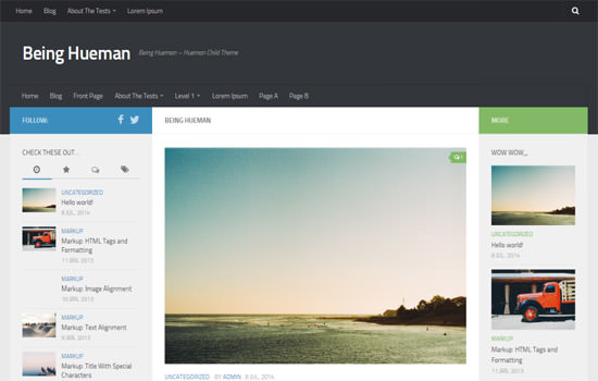 Being Hueman WP theme