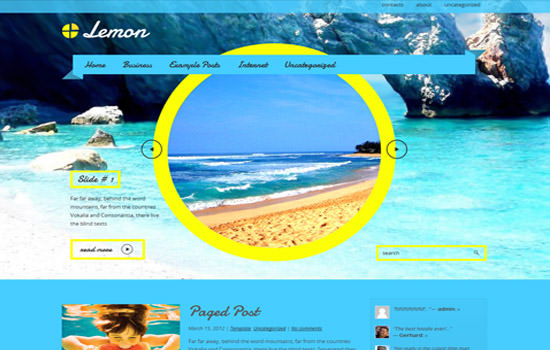lemon WP theme