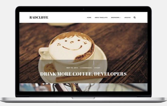 Radcliffe WP theme
