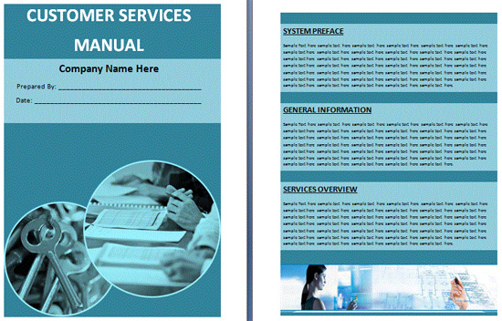 Free customer service training manual template