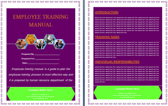 Employee Training Manual  Free Training Manual Templates