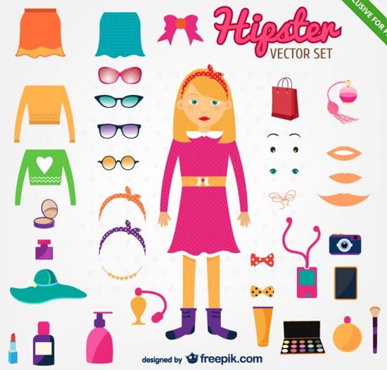 girl-hipster-set