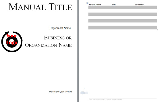 Boring Work Made Easy: Free Templates for Creating Manuals | The ...