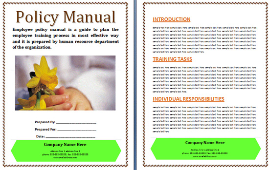 Office Manual Template Policymanual Boring Work Made Easy Free