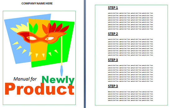 Boring Work Made Easy Free Templates for Creating Manuals noupe – Manual Design Templates