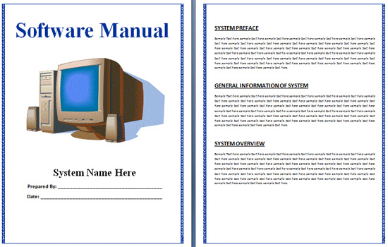 microsoft word instruction manual template