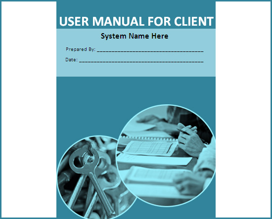 User Manual Template  Free Training Manual Templates