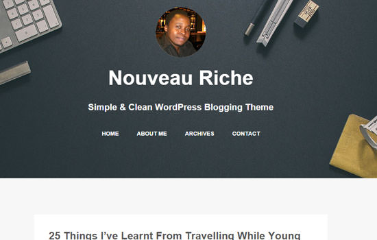 Noveau Riche WP theme