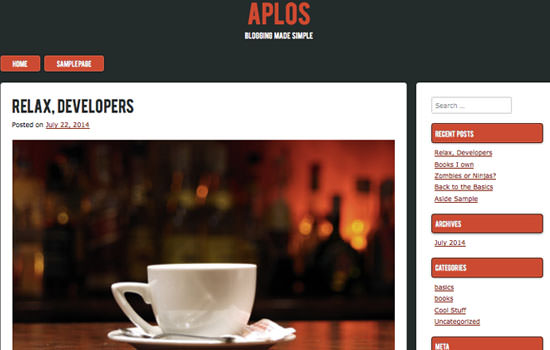 Aplos WP theme