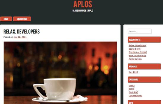 Aplos WP theme