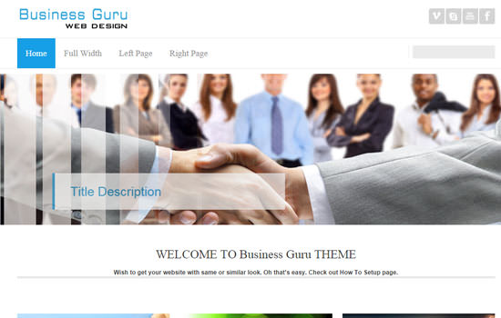 Business guru WP theme