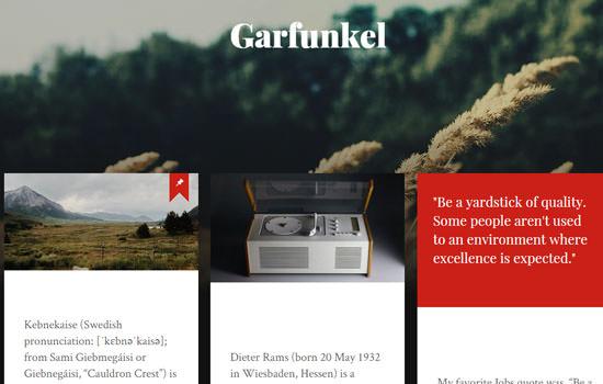 Garfunkel WP theme