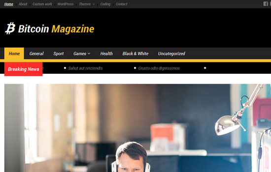 Bitcoin magazine WP theme