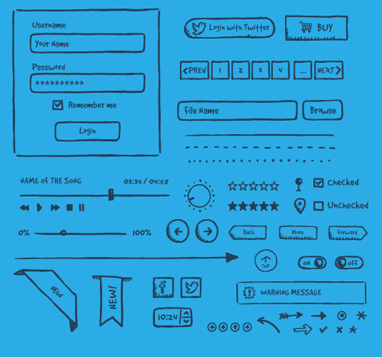 hand-drawn-ui