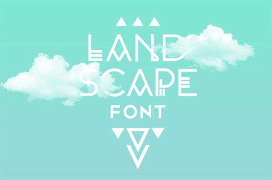 landscape-font