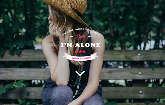 Lonely Bootstrap template