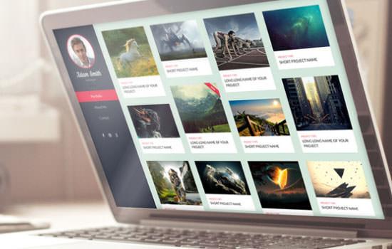 Sleek portfolio PSD template