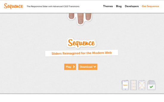 Sequence.js: Responsive Content Slider with CSS3 Transitions and Gesture Control