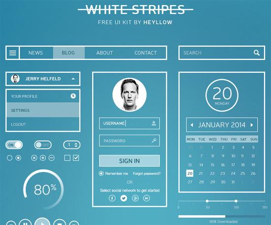 white-stripes