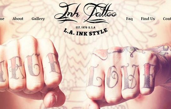 Ink tattoo: fashion bootstrap responsive web template