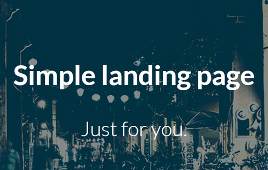 The landing page: flat bootstrap responsive web template