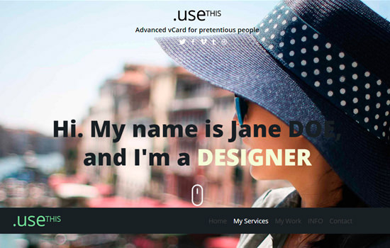 Usethis: personal portfolio flat template