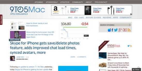 Die bekannteste Apple-News-Seite der Welt mag WordPress sehr.