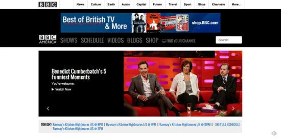 Auch die BBC America nutzt WordPress.