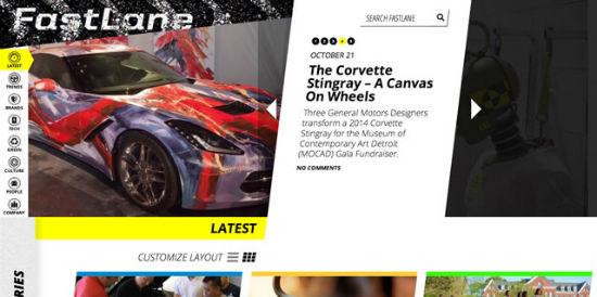 Fastlane Blog von General Motors - hier werden derzeitige und zukünftige Projekte gezeigt