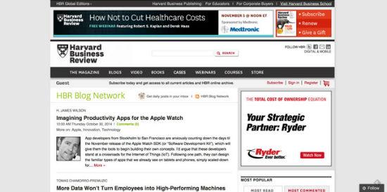 Das Harvard Business Review Netzwerk.