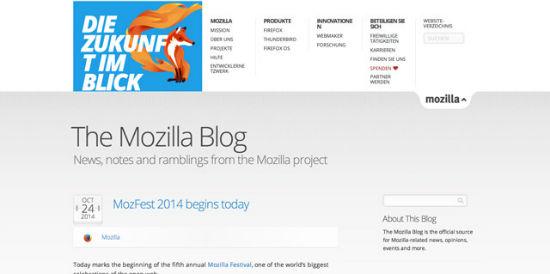 Der offizielle Blog von Mozilla.