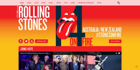 Auch die Rolling Stones rocken mit WordPress.