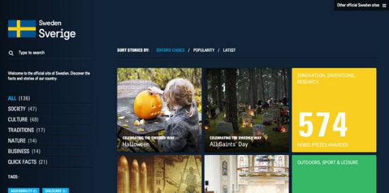 Schwedens offizielle Webseite